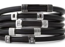 METRO Range – Gents sterling silver & neoprene bangles