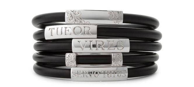 CLASSIC Range – Hand engraved sterling silver & neoprene bangles