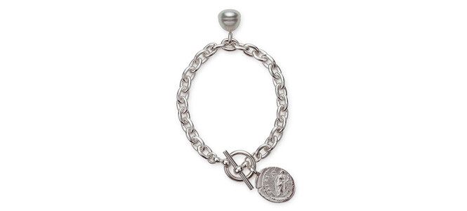 THE EMPEROR AND FELICITAS Sterling silver & South sea pearl bracelet