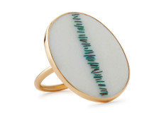 ring in gold and enamel