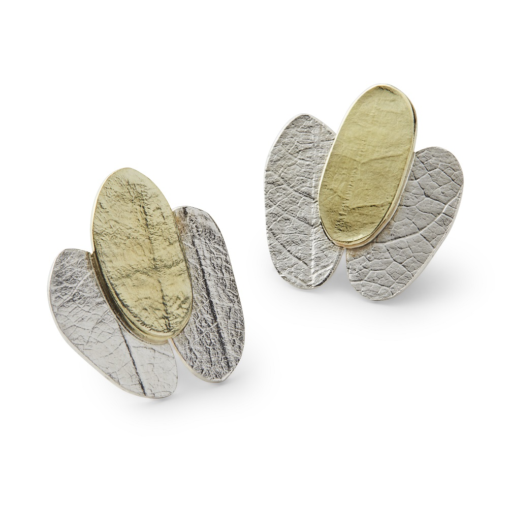 MYRTACEAE series – 9ct gold and sterling silver earrings