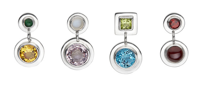 VICKI earrings in sterling silver and semi-precious stones