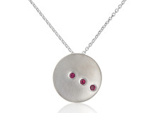 TILT pendant in sterling silver and rhodolite